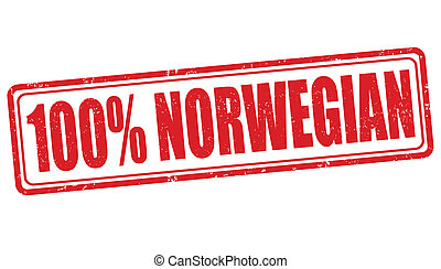 100 percent norwegian stamp - 100 percent norwegian grunge...