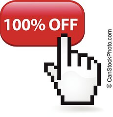 100 Percent Off Button