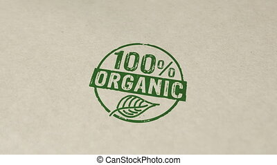 100 percent organic stamp and stamping animation