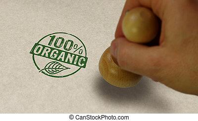 100 percent organic stamp