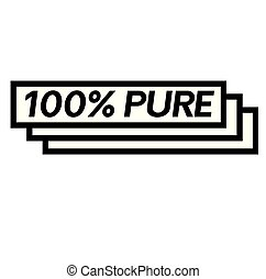 100 percent pure stamp on white
