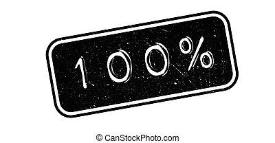 100 percent rubber stamp