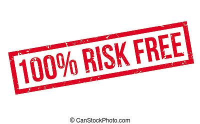 100 percent, ryzyko, wolny, kauczukowa pieczęć