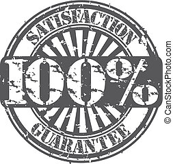 100 percent satisfaction guarantee rubber