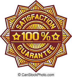 100 percent satisfaction label