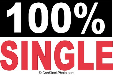 100 percent single lettering