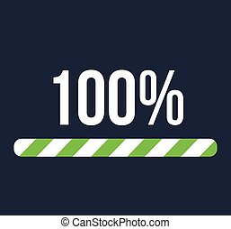 100 Percent Success Illustration
