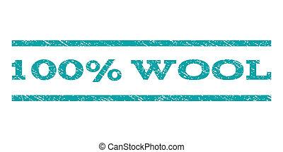 100 Percent Wool Watermark Stamp