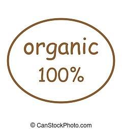 100 percento, organico, segno