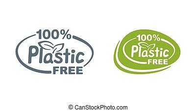 Plastic Free stamp in 2 variations