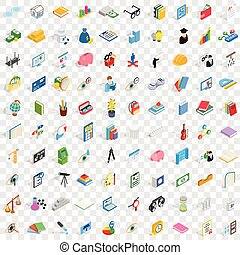 100 personal development icons set in isometric 3d style for any design vector illustration