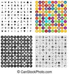 100 pharmacy icons set variant
