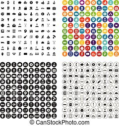 100 philanthropy icons set vector variant - 100 philanthropy...