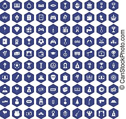 100 premium icons hexagon purple