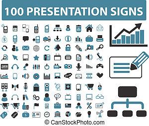 100, presentación, señales