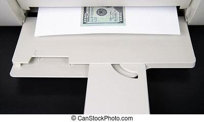 100, printer., $, imprimé
