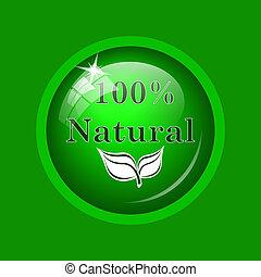 100 procenten, natuurlijke , pictogram
