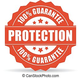 100, protection, garantie, icône