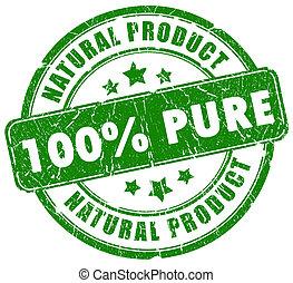 100, pur, naturel, timbre