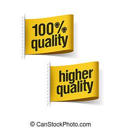 100%, qualité, produit, plus haut