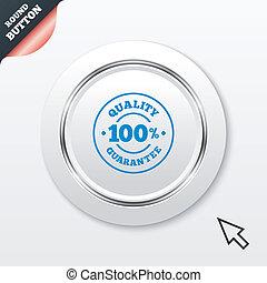 100% quality guarantee icon. Premium quality.