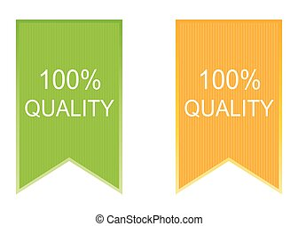 100% Quality label set