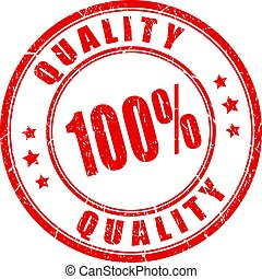 100 quality red rubber stamp