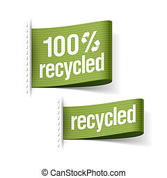 100% recycled product labels