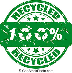 100% recycled stamp