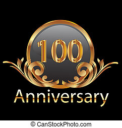 100, rocznica, złoty