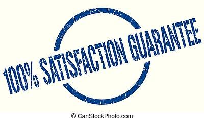 100% satisfaction guarantee stamp