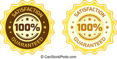 100 Satisfaction Guaranteed Label