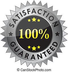 100% satisfaction guaranteed label