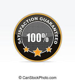 100% Satisfaction guaranteed business icon.