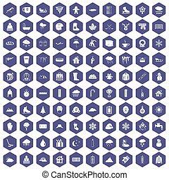 100, schnee, heiligenbilder, sechseck, lila