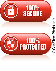100 secure buttons set