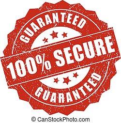100 secure grunge icon