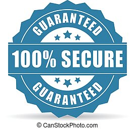 100 secure icon on white background