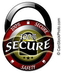 100 secure padlock icon