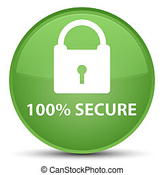 100% secure special soft green round button