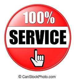100% service button red