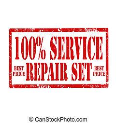100% Service-stamp