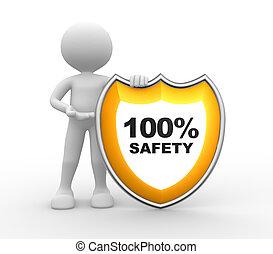 100%, shield., 安全