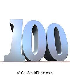 100, -, silver, numrera