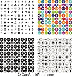 100 smart house icons set vector variant