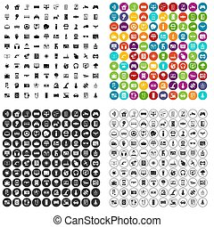 100 software development icons set variant