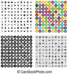 100 software engineering icons set variant