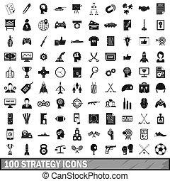 100, strategie, stil, satz, einfache abbilder