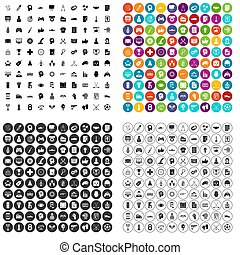 100 strategy icons set variant