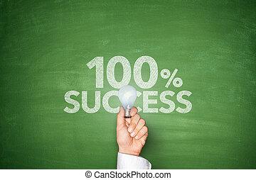100%, succes